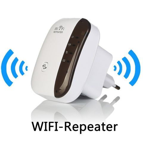 Network - Wireless WiFi Repeater Signal Amplifier 802.11N/B/G Wi-fi Range Extander 300Mbps Signal Boosters Repetidor Wifi Wps Encryption