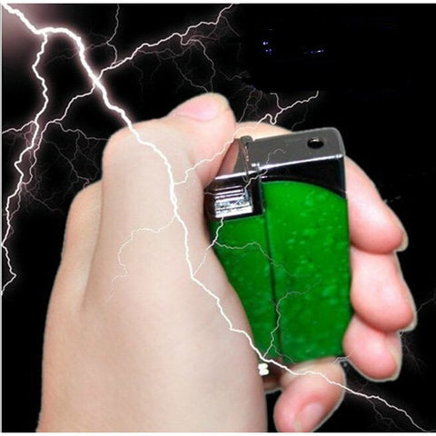 Novelty - Multifunction Windproof Reuse Lighter Electric Shock Toy Novelty Joke Gifts Prank Toys Trick Your Friends