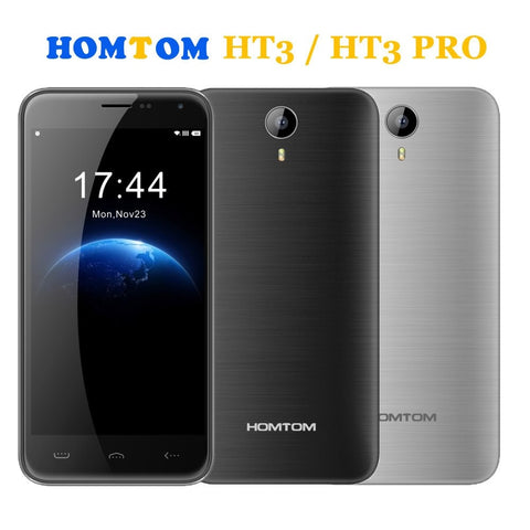 Phones - Original HOMTOM HT3 PRO 3000mAh 16GB+2GB 4G Android 5.1 MTK6735P / HOMTOM HT3 8GB+1GB 3G 5 Inch Android 5.1 MTK6580A Quad Core