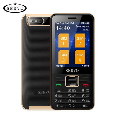 Phones - Quad Sim Cell Phone Quad Band 2.8 Inch 4 SIM Cards 4 Standby Phone Bluetooth Flashlight MP3 MP4 GPRS Russian Language Keyboard