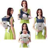 Sunday Gold - 2-30 Months Breathable Multifunctional Front Facing Baby Carrier Infant Baby Sling Backpack Pouch Wrap Baby Kangaroo