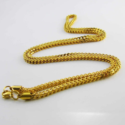Long Franco Chain Stainless Steel Gold