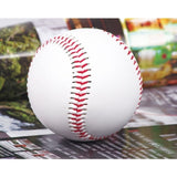 "Sunday Gold - 1 Piece 9"" New White Base Ball Baseball Practice Training PVC Softball/Hardball hand sewing Sport Team Game"