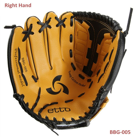 Sunday Gold - Adults PVC Artificial Leather baseball gloves right hand 11.5inch 12.5inch men women soft baseball hardball pitcher's gloves