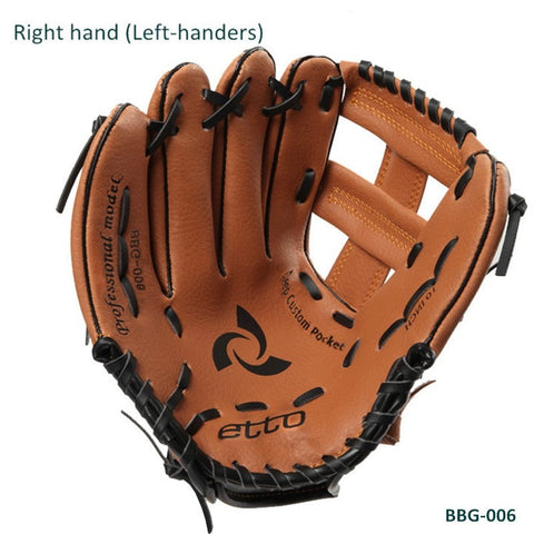 "Sunday Gold - Child Youth Boy Girl Brown Baseball Glove 10""/11"" Softball Outdoor Team Sports RIGHT HAND Practice Equipment"