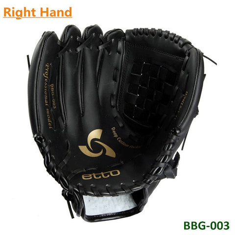 High Quality 11.5 12.5 Inch Black Fast Pitch PU Softball Glove Outdoor Sports Baseball Pitcher Gloves for Right Hand player