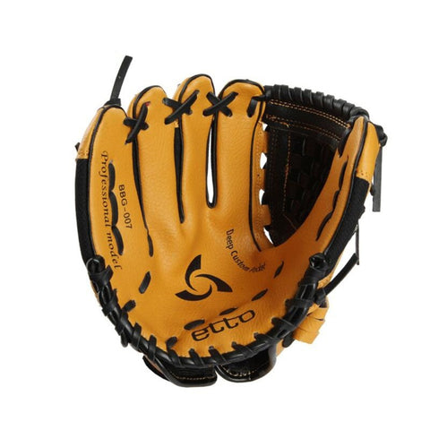 Sunday Gold - 1pc right or left hand baseball glove 10 Inch Youth Model Deeper web designs makes Baseball glove catching easier s4