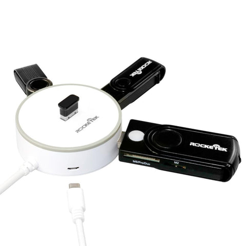 Rocketek 4-Port USB 3 Hub With a Built-in USB 3.0 Cable and a Extra Micro USB Charging Port