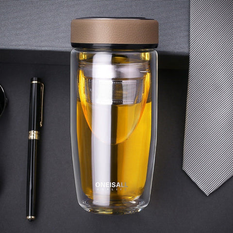 Double Layer Portable Business Tumbler