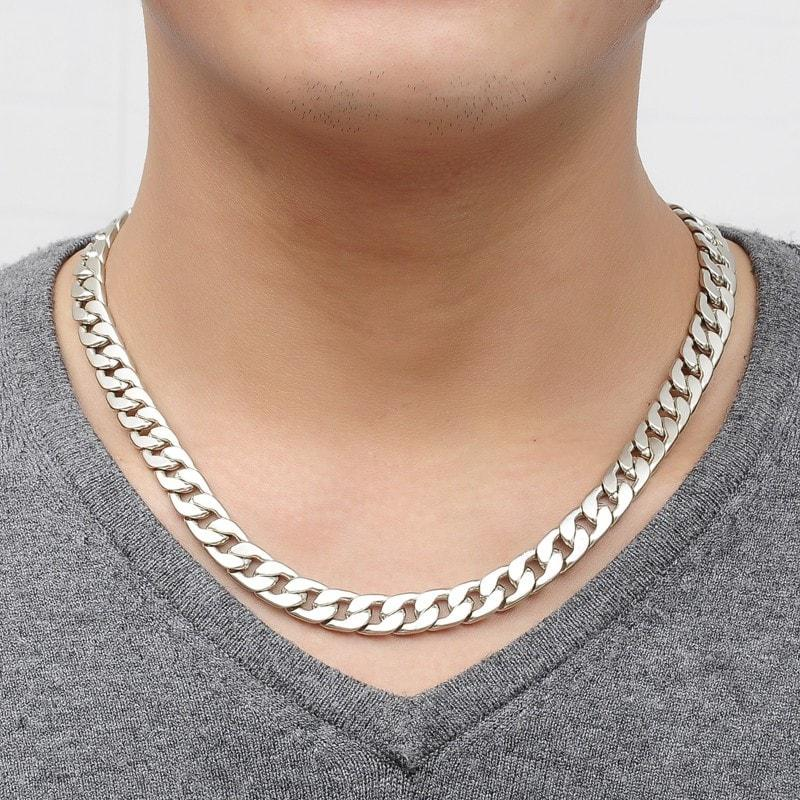 Sunday Gold - Alloy Silver Thick Chain Necklace