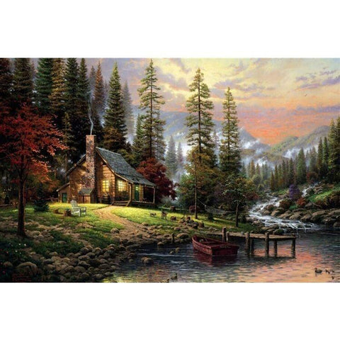 Sunday Gold - Autumn Cabin Puzzle (1000 pieces)