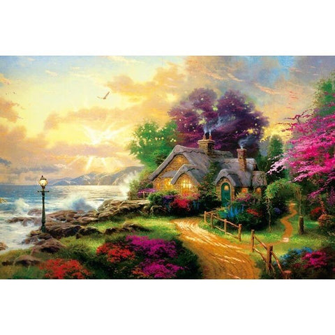 Puzzles - Dawn The Wooden Puzzle 1000 Pieces Ersion Paper  Jigsaw Puzzle White Card Adult Children's Educational Toys