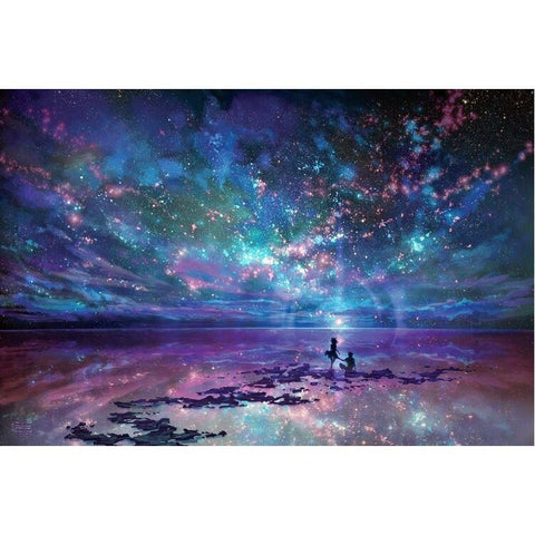 Puzzles - Dream Star Ocean Decompression And Upgraded Version Paper Artifact 1000 Pieces Jigsaw Puzzle White Card Adult Toys