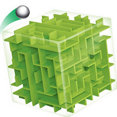 Puzzles - Green Maze Magic Cube Puzzle