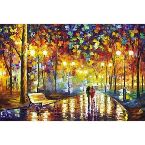 Puzzles - Rainy Night Walk The Wooden Puzzle 1000 Pieces Paper Jigsaw Puzzle White Card Adult Children's Educational Toys