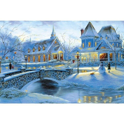 Puzzles - Snow The Wooden Puzzle 1000 Pieces Ersion Paper  Jigsaw Puzzle White Card Adult Children's Educational Toys