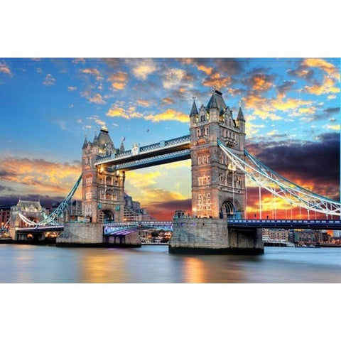 Puzzles - Tower Bridge Of London Sunset (below) The Wooden Puzzle 1000 Pieces Of Adult Children's Educational Toys