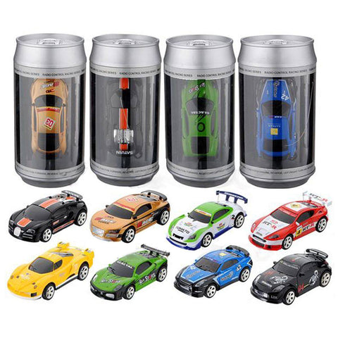 Remote Controlled - Hot Sale Coke Can Mini RC Car Radio Remote Control Micro Racing Car 4 Frequencies
