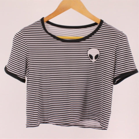 Sunday Gold - Alien Striped T-Shirt