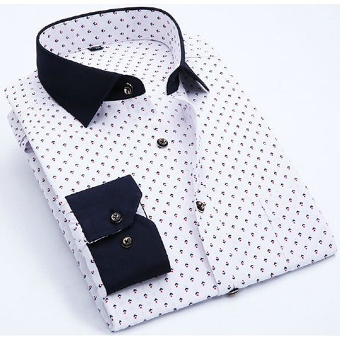 Sunday Gold - Casual Black and White Patterned Shirt