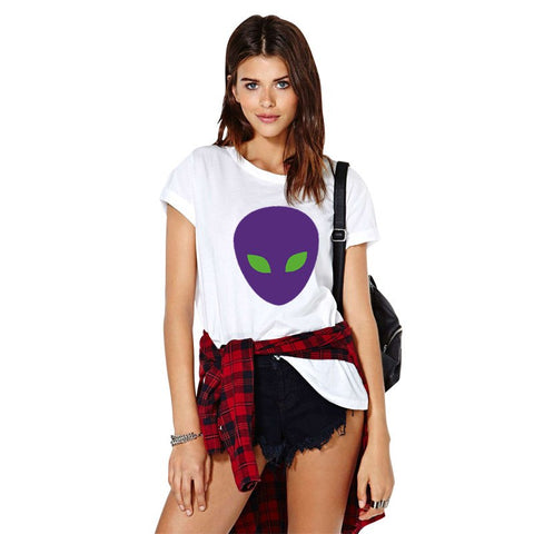 Shirts - Purple Alien T-Shirt
