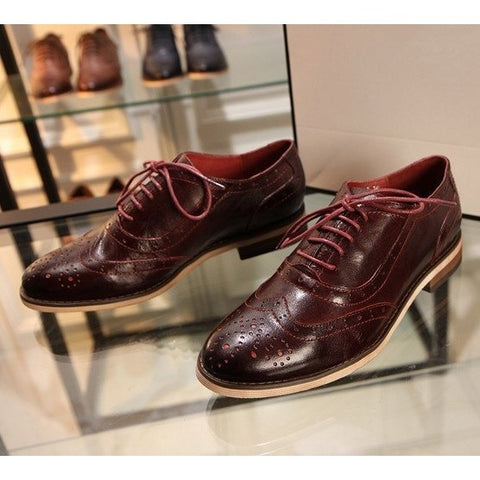 Sunday Gold - Genuine Leather Oxfords