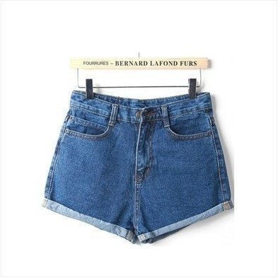 Shorts - Slim Fit Denim Shorts