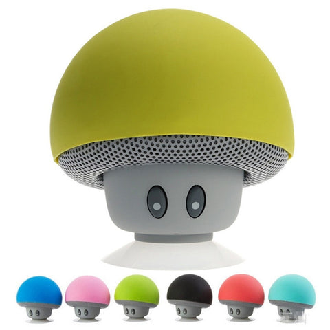 Speakers - Wireless Mini Bluetooth Speaker Portable Mushroom Waterproof Stereo Bluetooth Speaker For Mobile Phone IPhone Xiaomi Computer