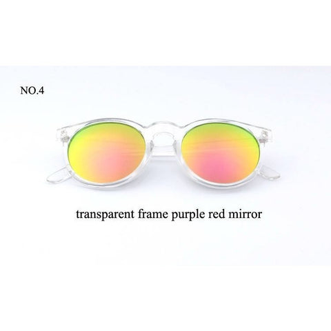 Sunglasses - Pastel Lens Clear Round Sunglasses
