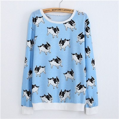 Sunday Gold - Blue Puppies Pullover Sweater (One Size)