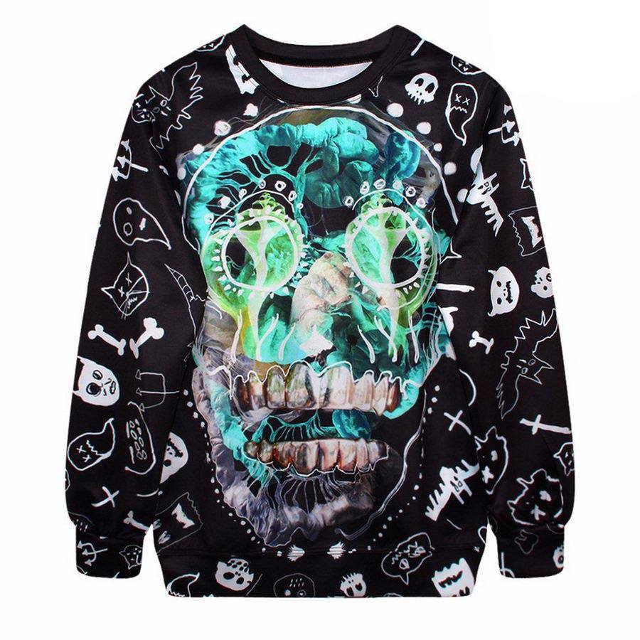 Sunday Gold - Cartoon Skull Sweater