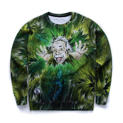 Sweaters - Green Einstein Sweater