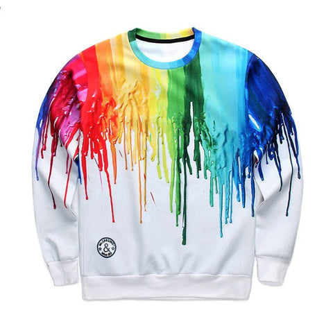 Sweaters - Rainbow Paint Sweater