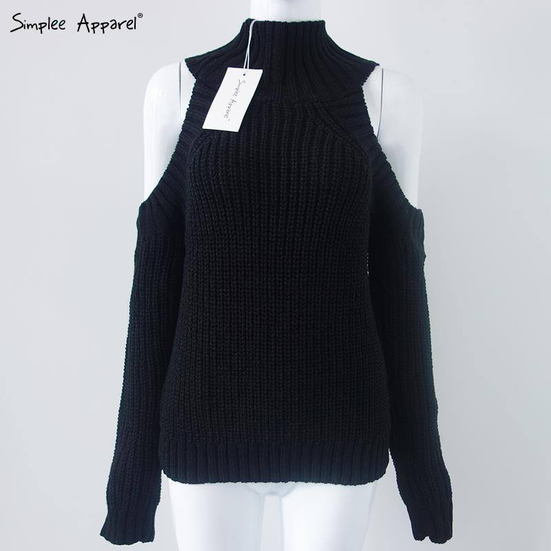 Sweaters - Simplee Apparel Off The Shoulder Turtleneck - One Size