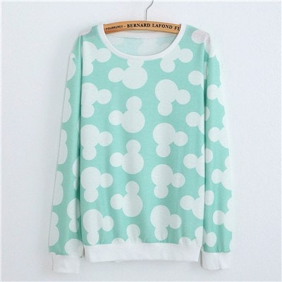 Sweaters - Teal Mouse Pullover Sweater (One Size)