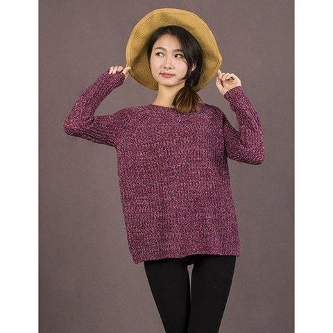 Sweaters - Wool O-Neck Long Sleeve Pullover