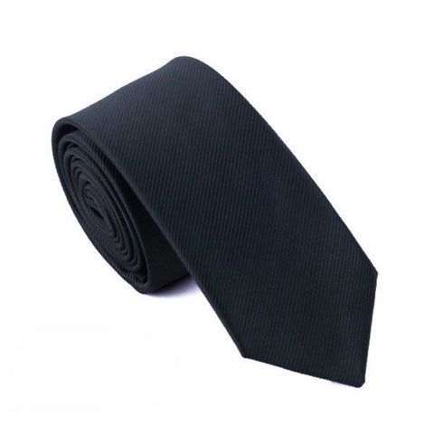 Sunday Gold - Basic Black Skinny Tie