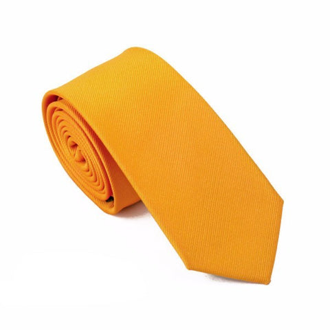 Sunday Gold - Basic Orange Skinny Tie