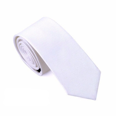 Sunday Gold - Basic White Skinny Tie