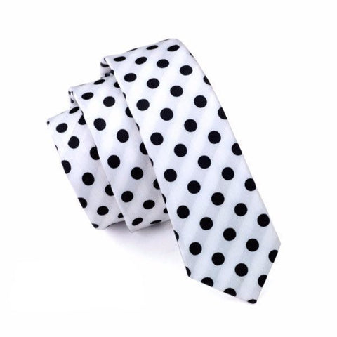 Sunday Gold - Black Polka Dot Skinny Tie