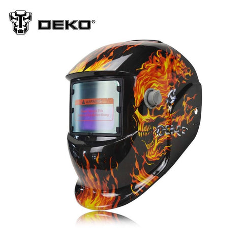 Tools - DEKO Skull Solar Auto Darkening  MIG MMA Electric Welding Mask/helmet/welder Cap/welding Lens For Welding Machine