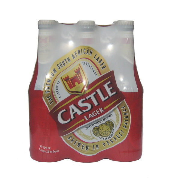 Castle lager 6 x 330ml bottles