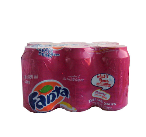 Fanta Grape flavoured drink 6 x 330ml cans