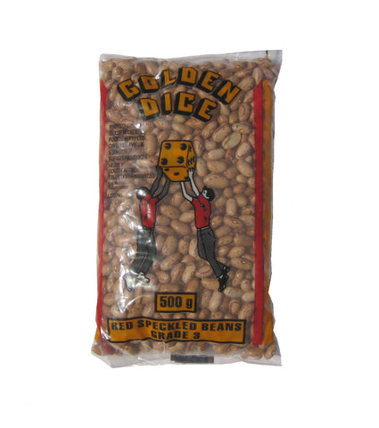 Golden Dice red speckled beans 500g