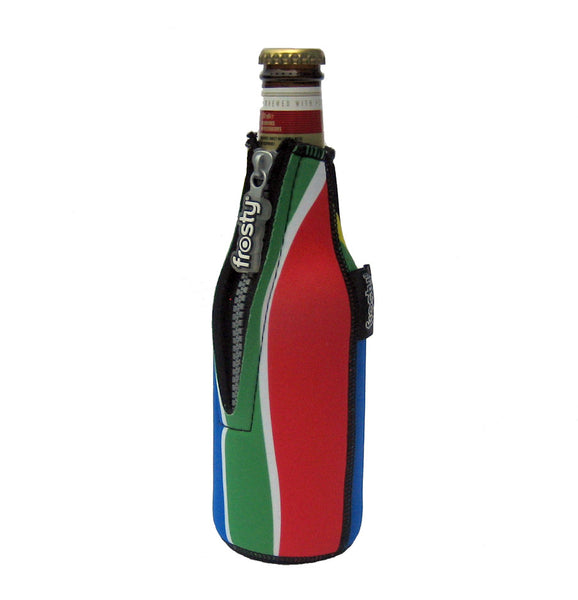 Frosty® South African flag 330ml beer bottle zip cooler