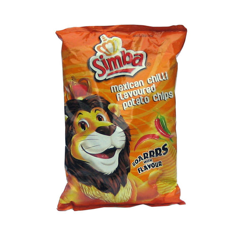 Simba Mexican chilli chips 125g
