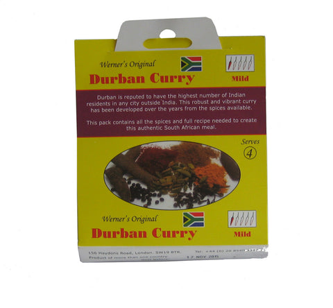 Werner's Original Durban Curry spice mix 35g