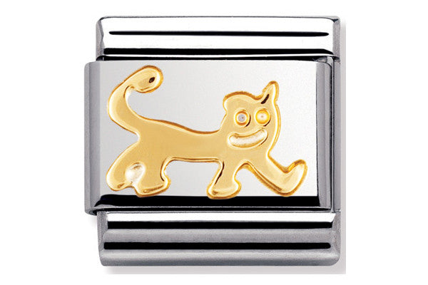 Nomination Charm Gold Cat