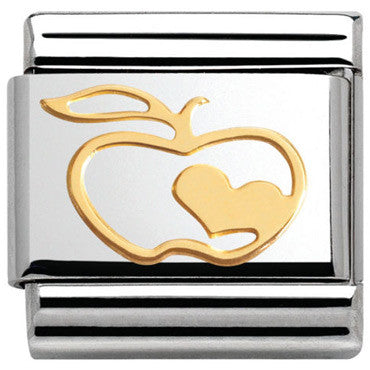 Nomination Apple With Heart Charm