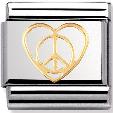 Nomination Charms Gold Peace And Love